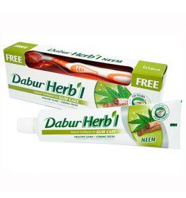 Зубная паста от кровоточивости десен Dabur Herbal Neem (150 г, Индия)