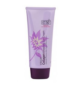 Солнцезащитный крем с коллагеном Cellio Collagen Whitening Sun Cream SPF50+/PA++++ (70 мл)
