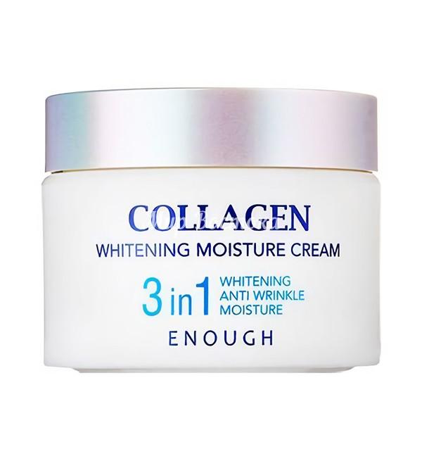 Увлажняющий крем для лица с коллагеном Collagen 3 In 1 Whitening Moisture Cream Enough (50 мл, Южная Корея)