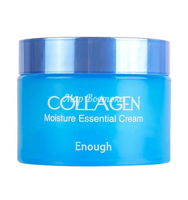 Увлажняющий крем для лица с гидролизованным коллагеном Collagen Moisture Essential Cream Enough