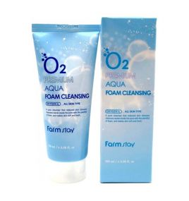 Пенка для умывания Farm Stay O2 Premium Aqua Foam Cleansing (100 мл)