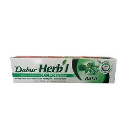 Зубная паста с базиликом Dabur Herb'l Basil (150 г, Индия)
