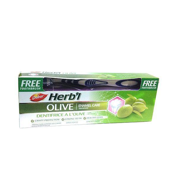 Зубная паста с экстрактом оливы Dabur Herbal Olive