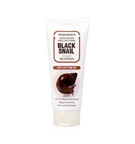 Маска-пленка для лица со слизью черной улитки Jigott Pure Clean Peel Off Pack Black Snail (180 мл)