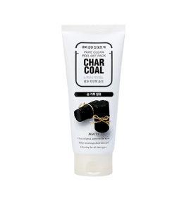 Маска-пленка для лица с древесным углем Jigott Pure Clean Peel Off Pack Charcoal (180 мл)