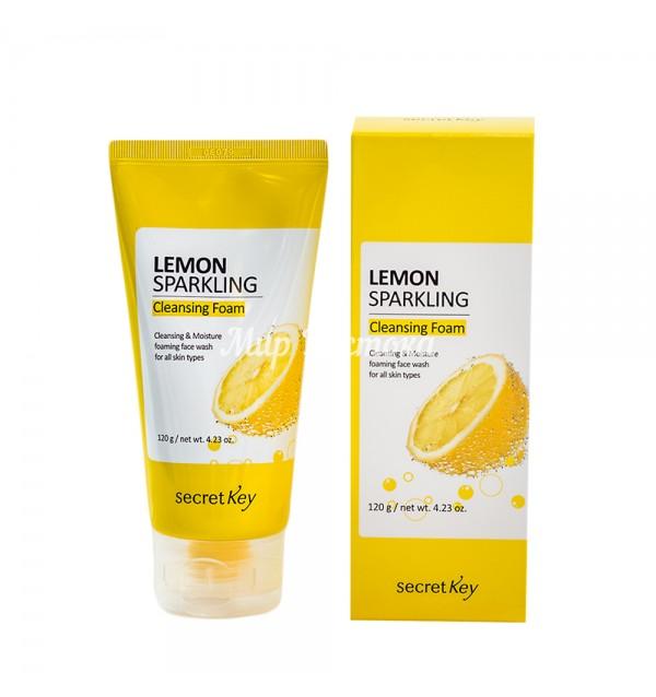 Очищающая пенка для лица с лимонной кислотой (Secret Key Lemon Sparkling Cleansing foam 120 gm)