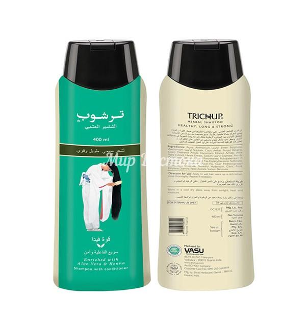 Шампунь для укрепления и роста волос Trichup Healthy, Long & Strong Herbal Shampoo (400 мл, Индия)