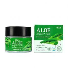 Увлажняющий крем для лица с алоэ вера Ekel Aloe Ampule Cream (70 мл)